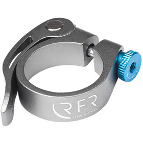 Cube RFR Seat post clamp avec blocage rapide, grey/blue